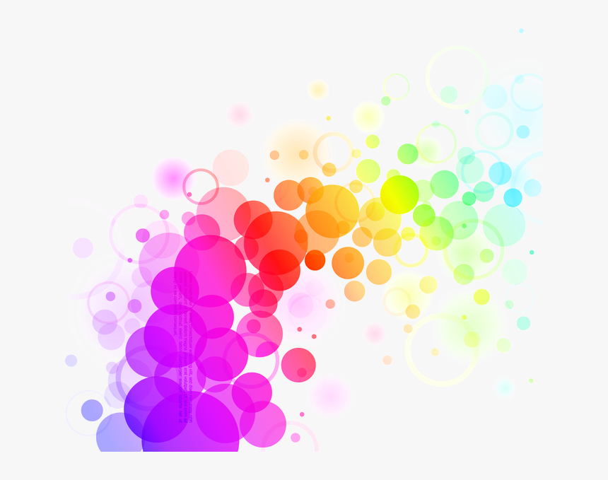 Abstract Colors Png File - Colorful Dots Vector, Transparent Png, Free Download