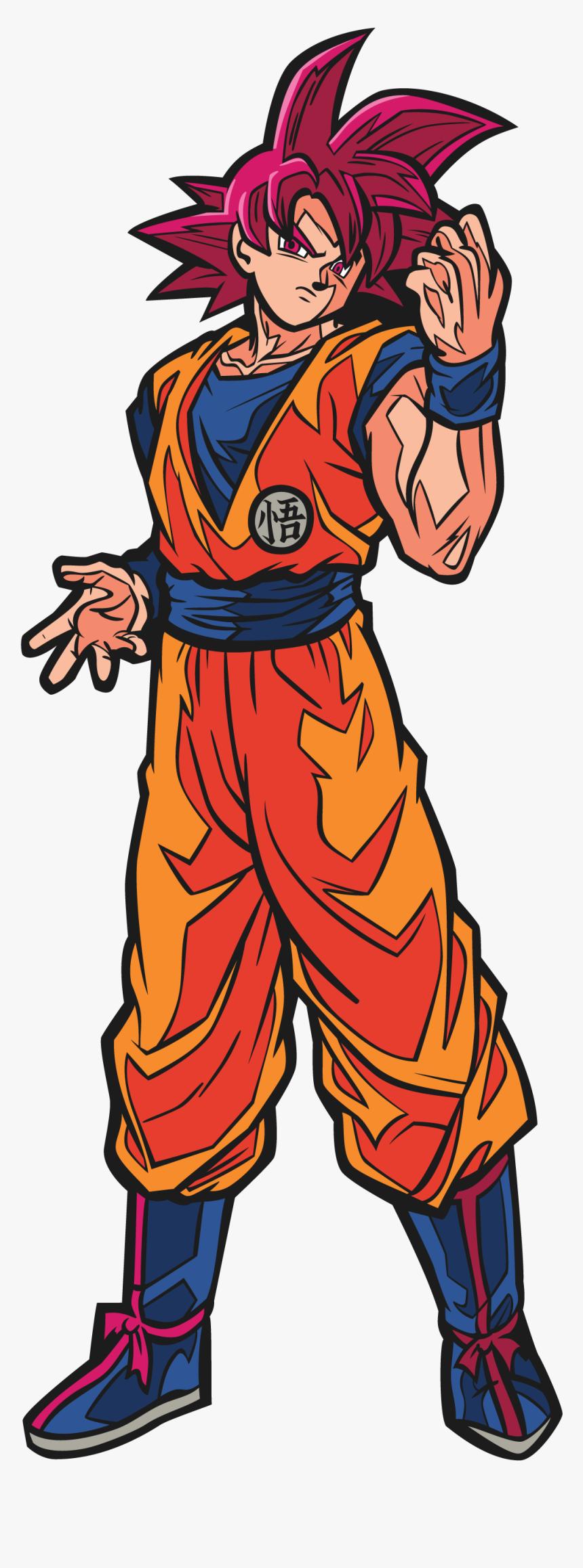 Super Saiyan God Goku Figpin, HD Png Download, Free Download