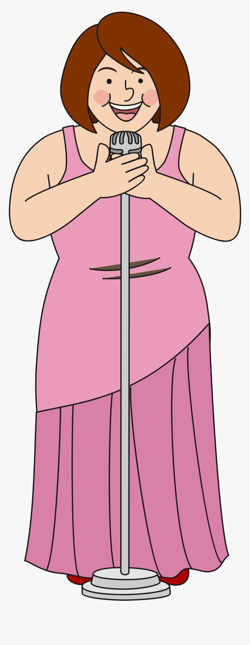 Singer Clipart Woman Singer - Illustration, HD Png Download, Free Download