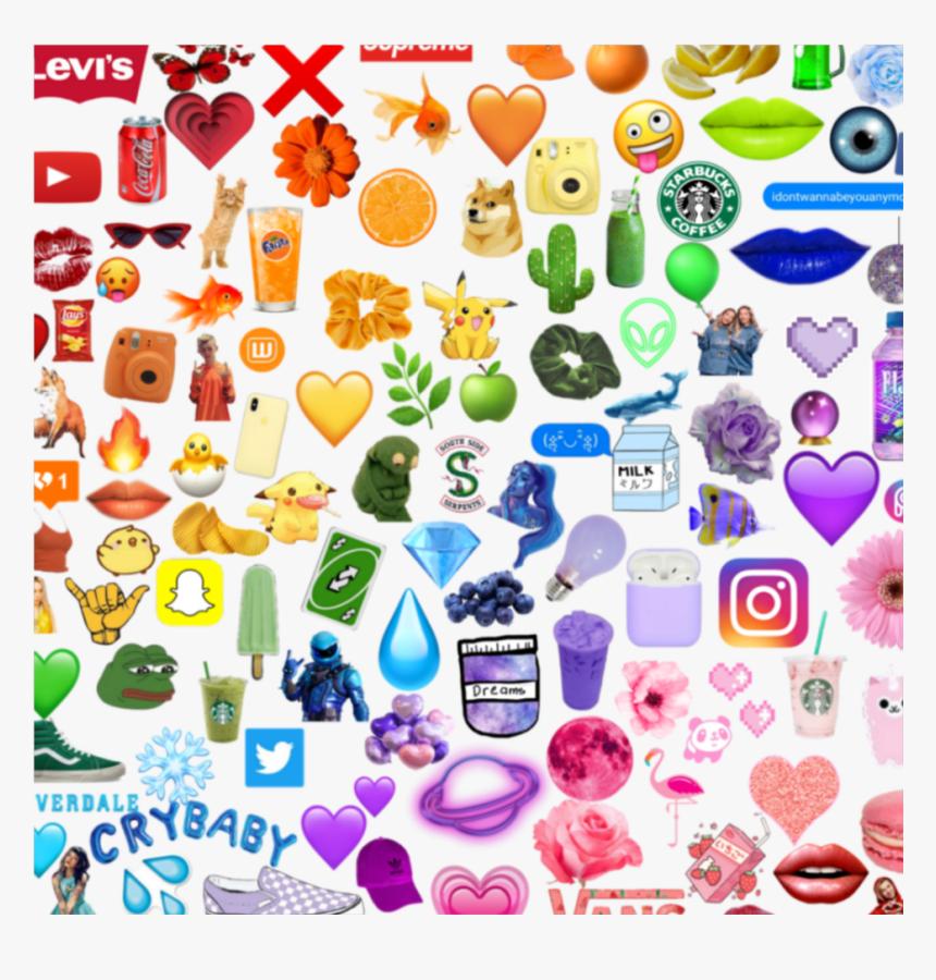 #rainbow #red #orange #yellow #green #blue #purple - Rainbow Emoji Background, HD Png Download, Free Download