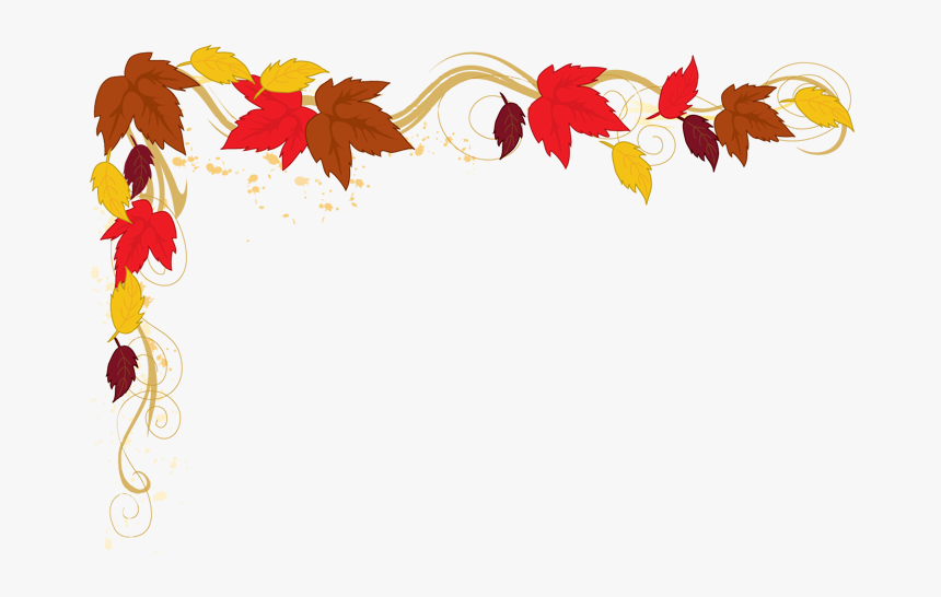 Falling Clipart Corner Border Pencil And In Color Falling - Fall ...