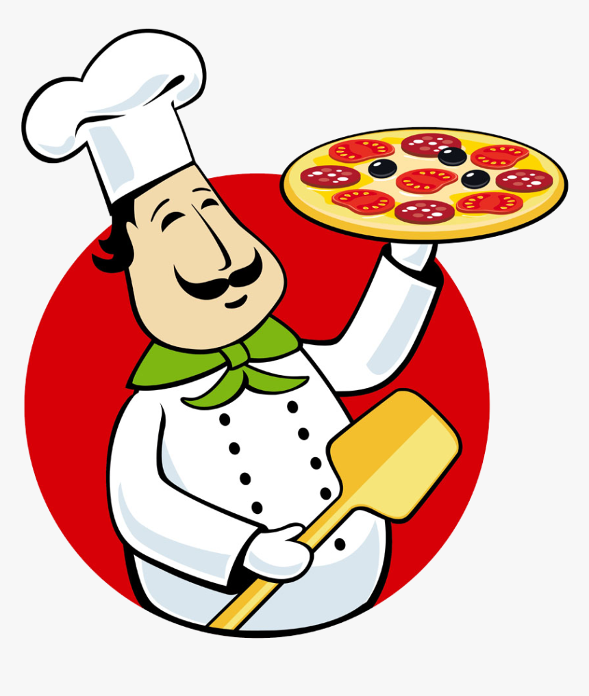 Delivery Italian Cuisine Chef Take - Pizza Chef Clipart, HD Png Download, Free Download