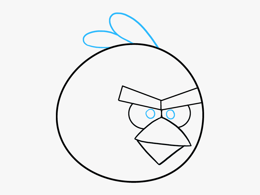 How To Draw Angry Birds Draw An Angry Bird Hd Png Download Kindpng