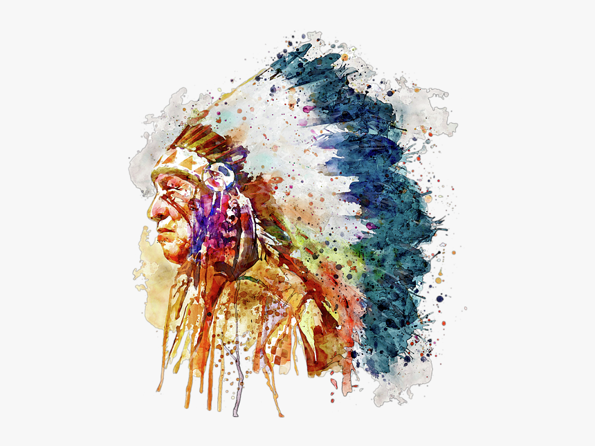 Native American Chief Art, HD Png Download, Free Download