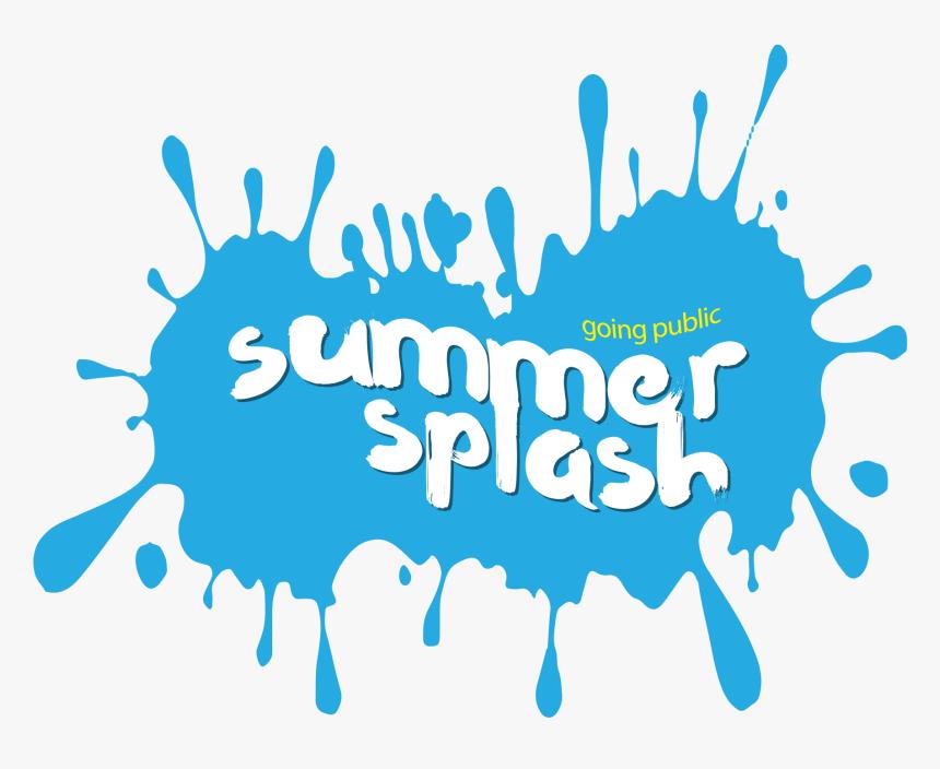 Blue Water Clipart Summer - Summer Splash Logo Transparent, HD Png Download, Free Download
