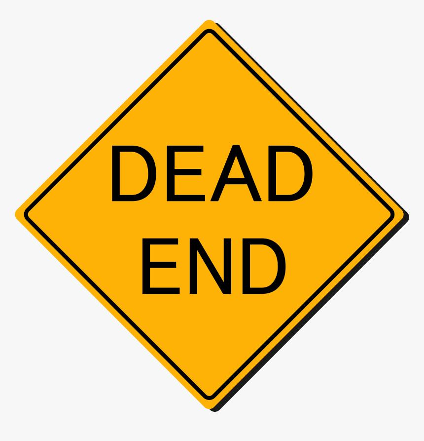 Dead End Sign Png Clipart - Dead End Sign Cartoon, Transparent Png, Free Download