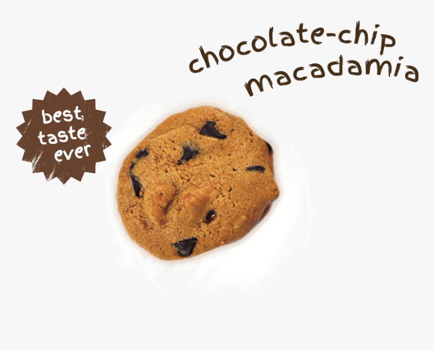 Choc-chip Macadamia Cookies, With Will Surely Impress - Chocolate Chip Cookie, HD Png Download, Free Download