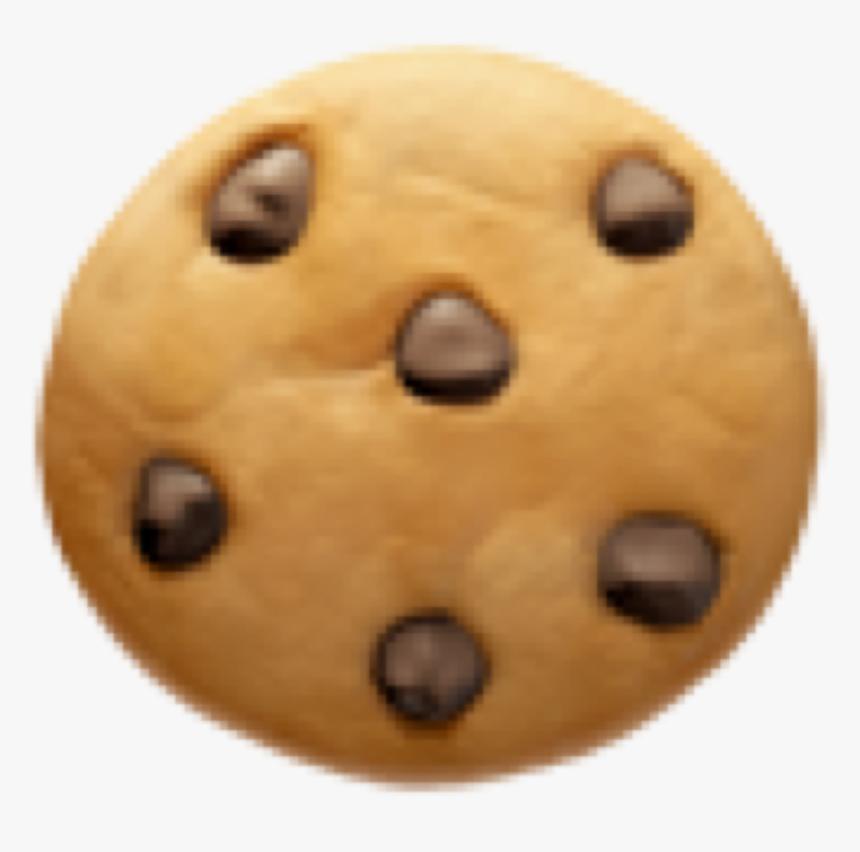 #kookie #cookie #cute #sweet #emoji #emojiiphone #brown - Chocolate Chip Cookie, HD Png Download, Free Download