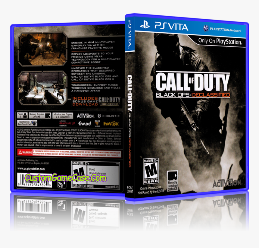 Call Of Duty Black Ops Declassified - Ps Vita One Call Of Duty, HD Png Download, Free Download