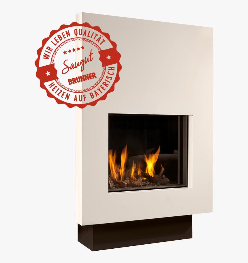 Gaskamin Flach Header Brunner Siegel Freisteller - Wood-burning Stove, HD Png Download, Free Download