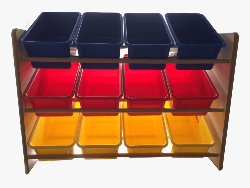 Multi Coloured Storage Tray Unit Transparent Background - Drawer, HD Png Download, Free Download