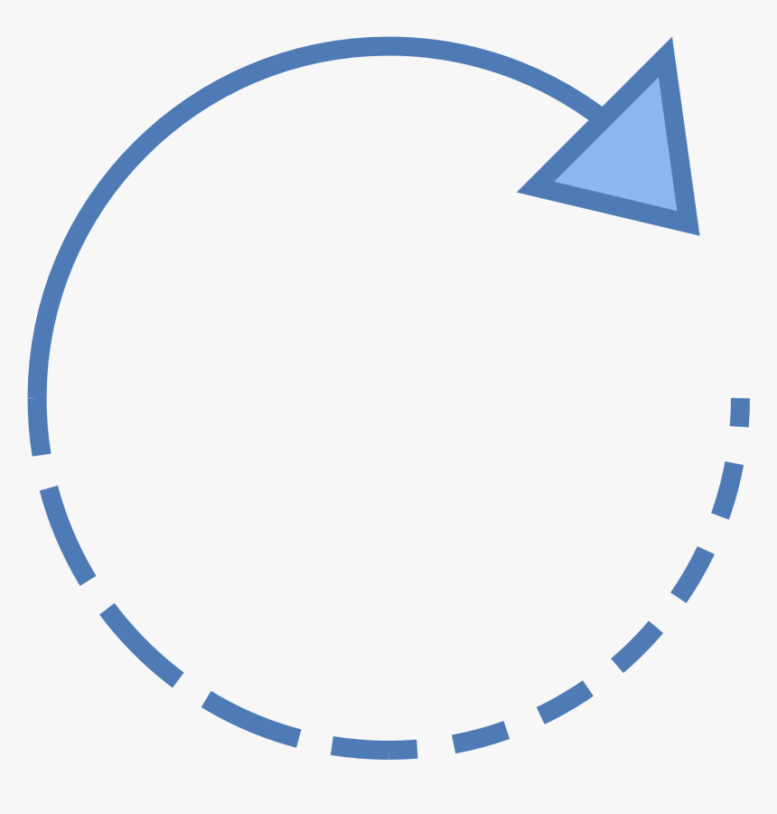 Circle,line,clip Art,graphics - Curved Dotted Arrow Icon, HD Png Download, Free Download