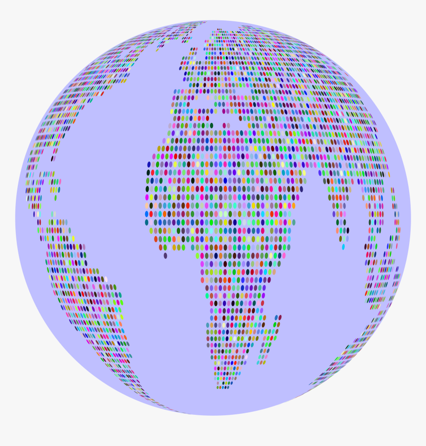 Prismatic World Map Dots 3 Globe Clip Arts - Circle, HD Png Download, Free Download