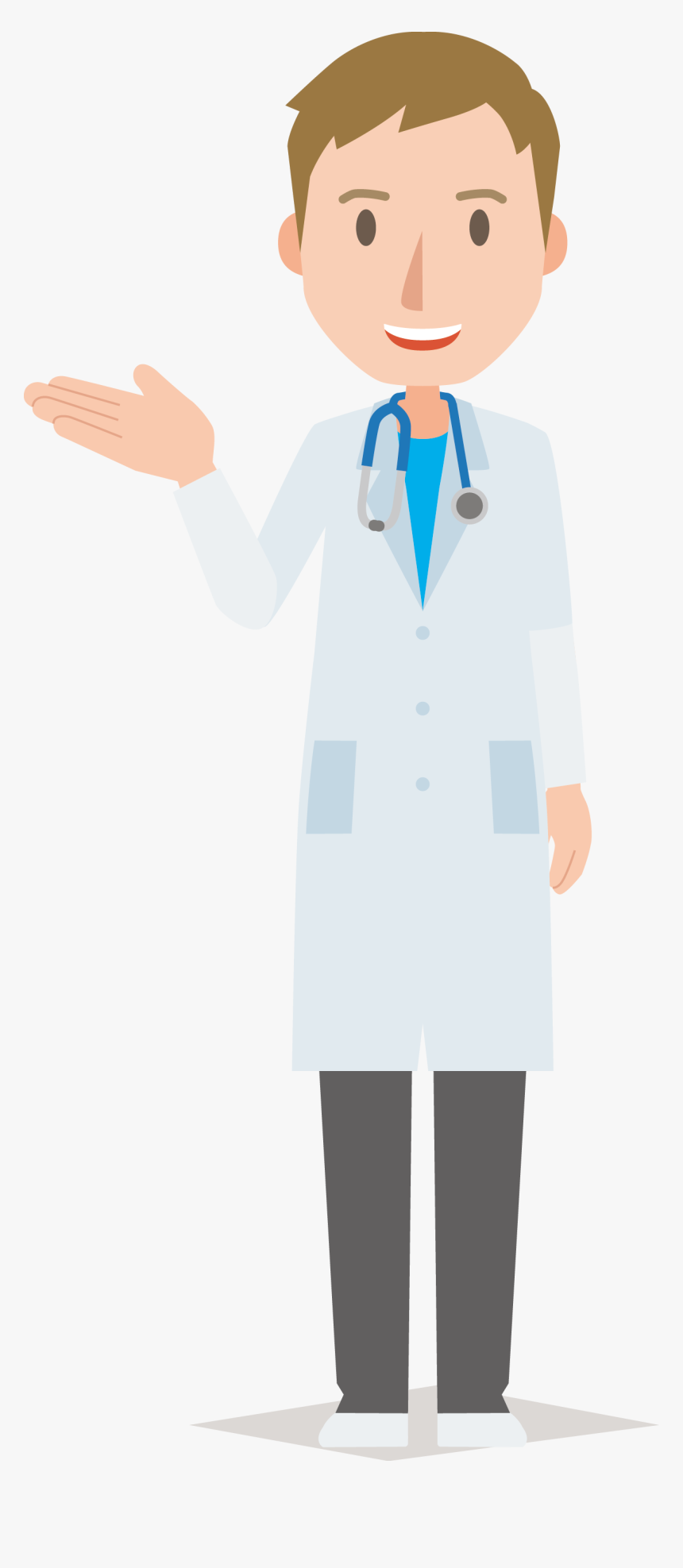 Newborn Doctor Physician Cartoon - Doctor Cartoon Transparent Background, HD Png Download, Free Download
