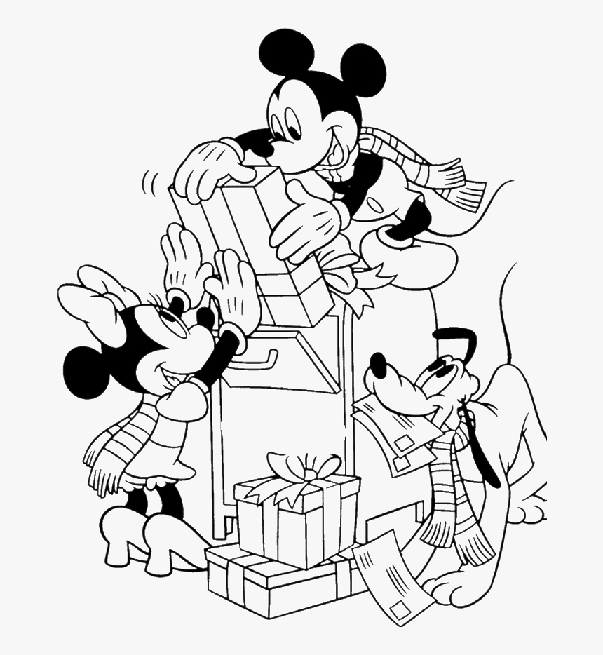 Mickey Mouse Snoopy Christmas Coloring Page Printable Disney