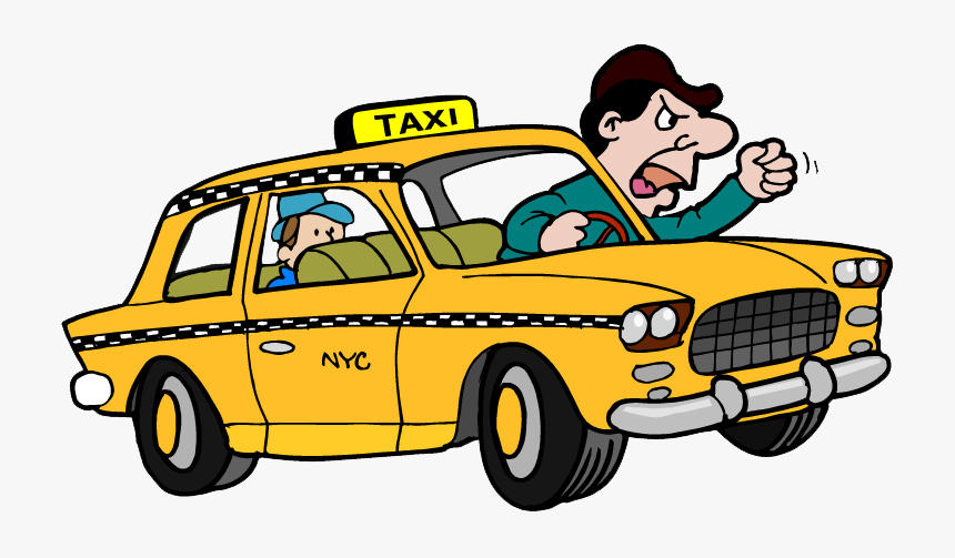 The Worst Driver In - Taxi Driver Cartoon Png, Transparent Png, Free Download