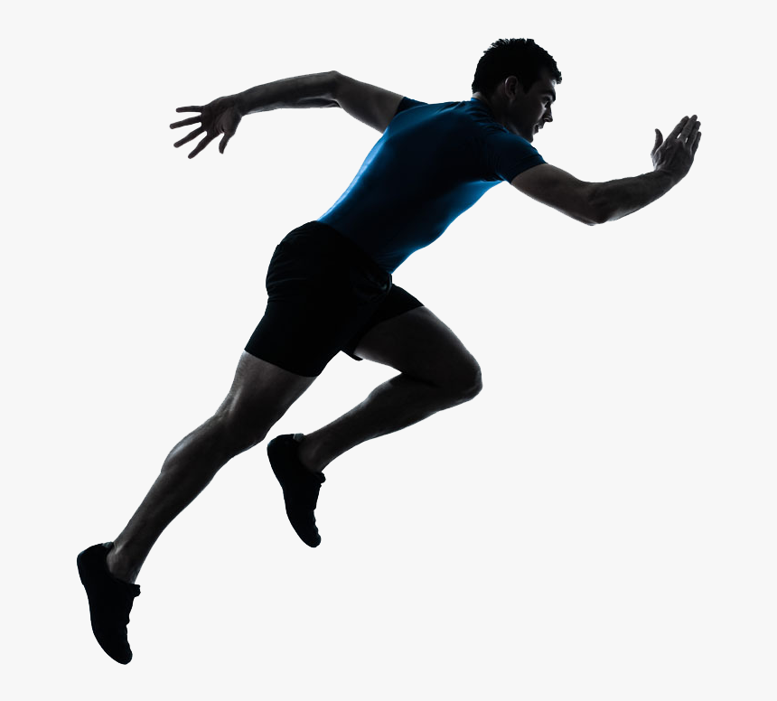 Sprint Running Silhouette Stock Photography - Man Running Silhouette Png, Transparent Png, Free Download