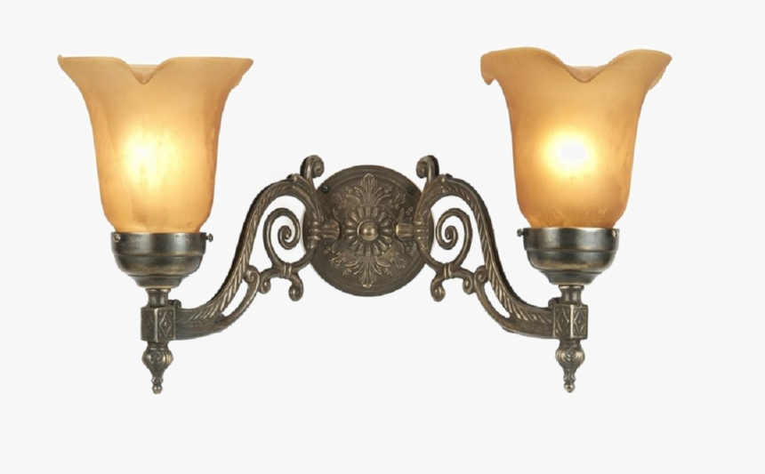 Wall Light Download Png Image - Vintage Wall Lamp Png, Transparent Png, Free Download