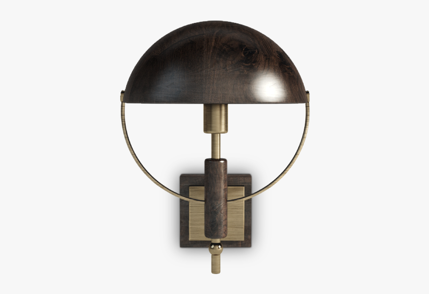 Faraday Wall Lamp In Dark And Smoked Walnut Wood - Transparent Wall Lamps Png, Png Download, Free Download