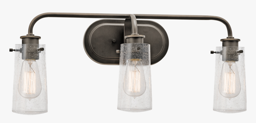 Kichler Braelyn 3 Light Wall Sconce - Vintage Farmhouse Lighting For Bathrooms, HD Png Download, Free Download