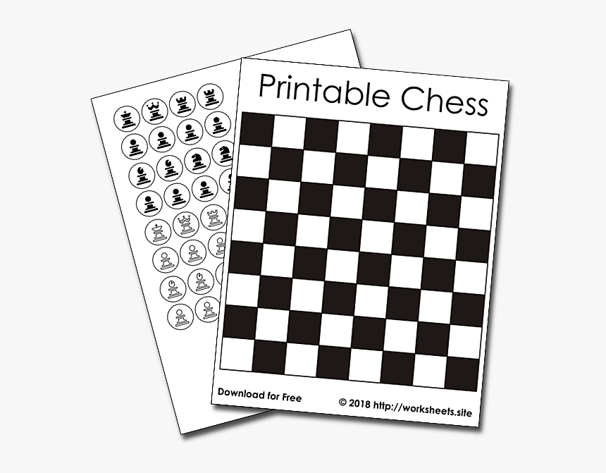 Transparent Board Game Pieces Clipart - Black And White Checkered Print, HD Png Download, Free Download