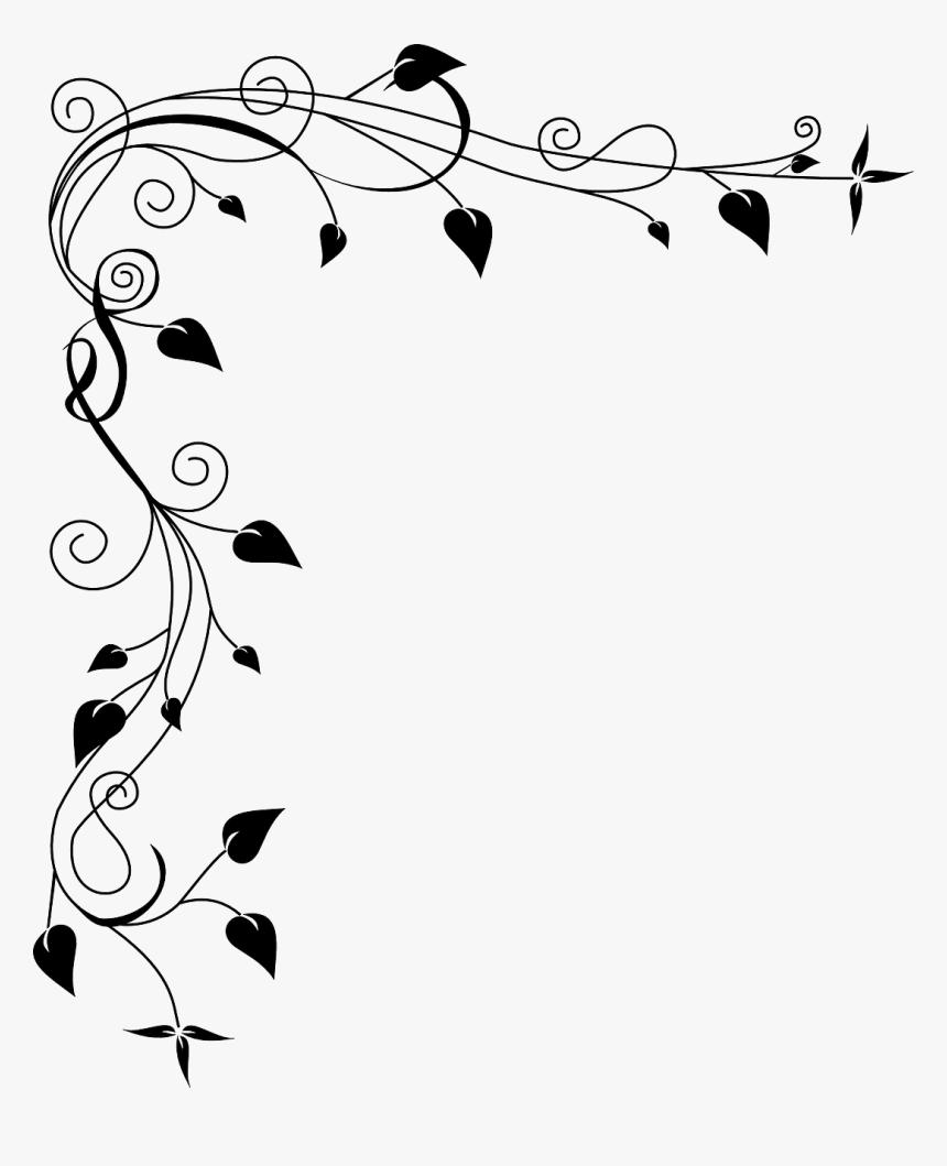 Book Mark Border Design , Png Download - Border Designs Black And White, Transparent Png, Free Download