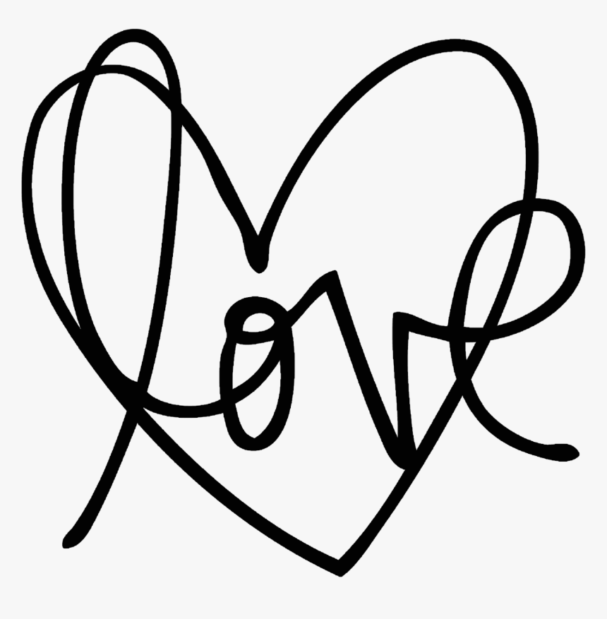 Transparent Handwritten Heart Png - Heart Line Drawing Png, Png Download, Free Download