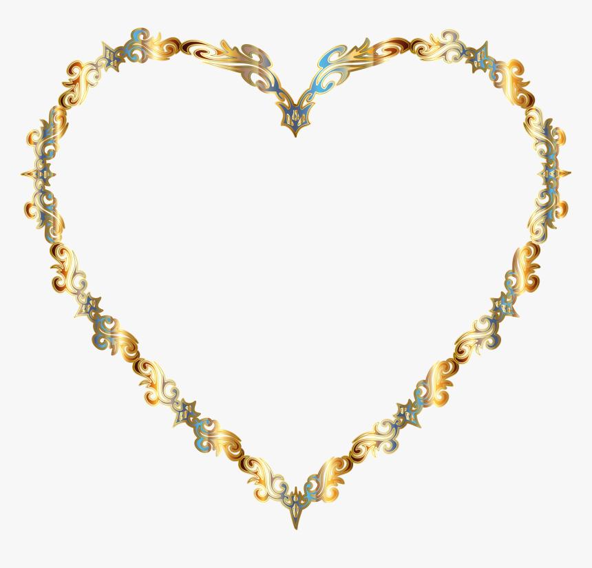 Colorful Fancy Decorative Line Art Heart Clip Arts - Clipart Colored Decorative Line, HD Png Download, Free Download
