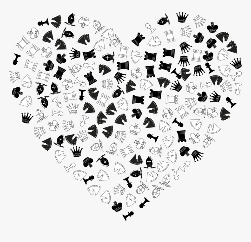 Heart,line Art,blackandwhite - Illustration, HD Png Download, Free Download