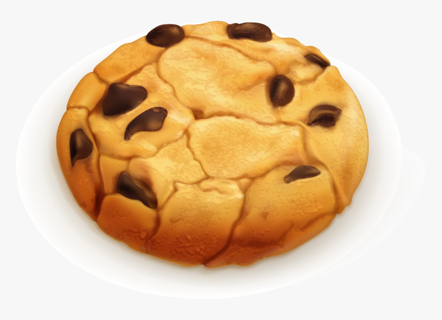 Transparent Cookies Clipart - Clipart Chocolate Chip Cookie Vector, HD Png Download, Free Download