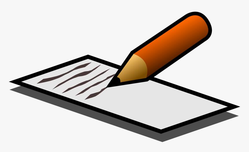 Independent Writing Png - Writing On Paper Cartoon, Transparent ...