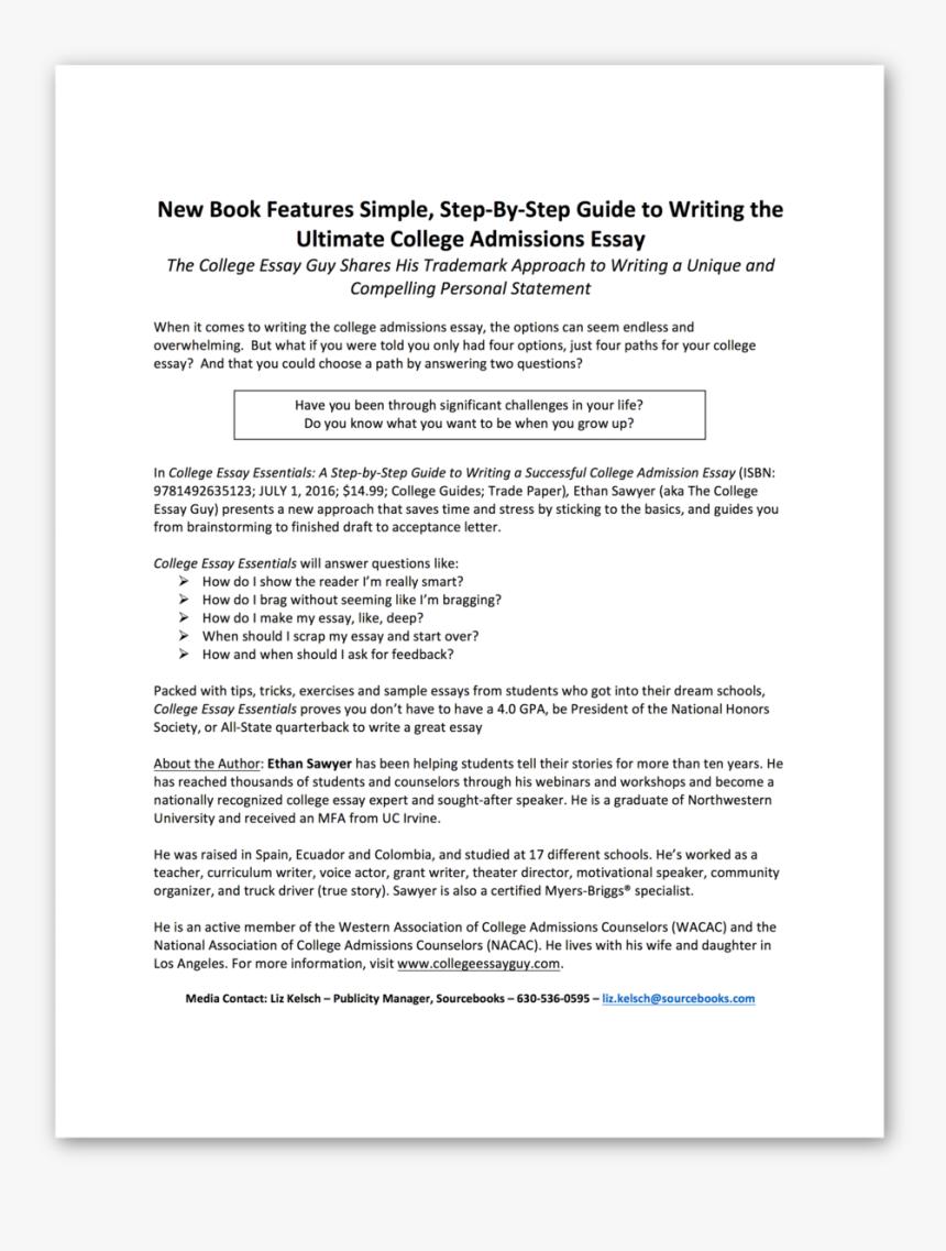 College Essay Essentials Pr - Essay, HD Png Download, Free Download