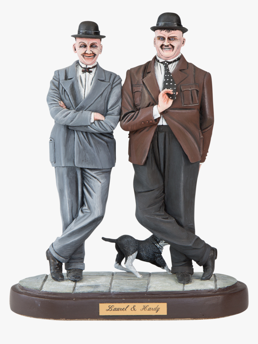 Laurel And Hardy Png - Figurine, Transparent Png, Free Download