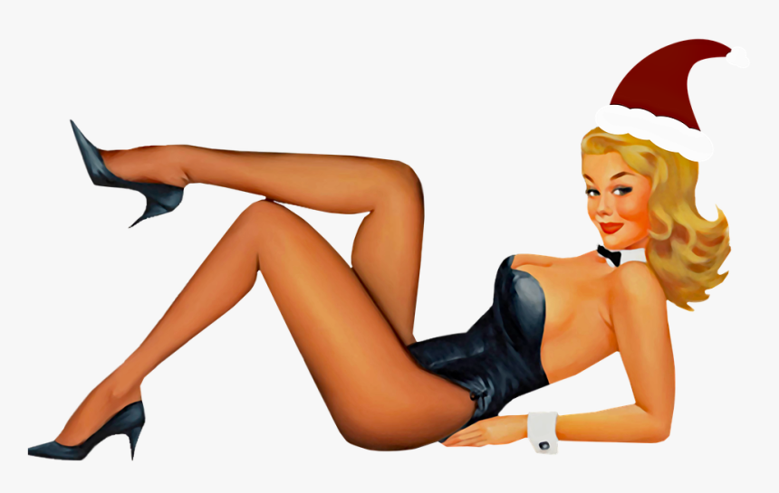 Pin Up Christmas Girl, Christmas, Sexy Girl, Holiday - Transparent Pin Up Girl, HD Png Download, Free Download