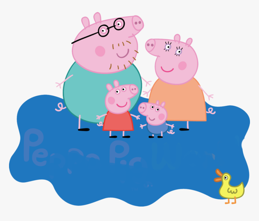 Peppa Pig Coloring Pages George Pig 4th Birthday Peppa Pig World Logo Hd Png Download Kindpng