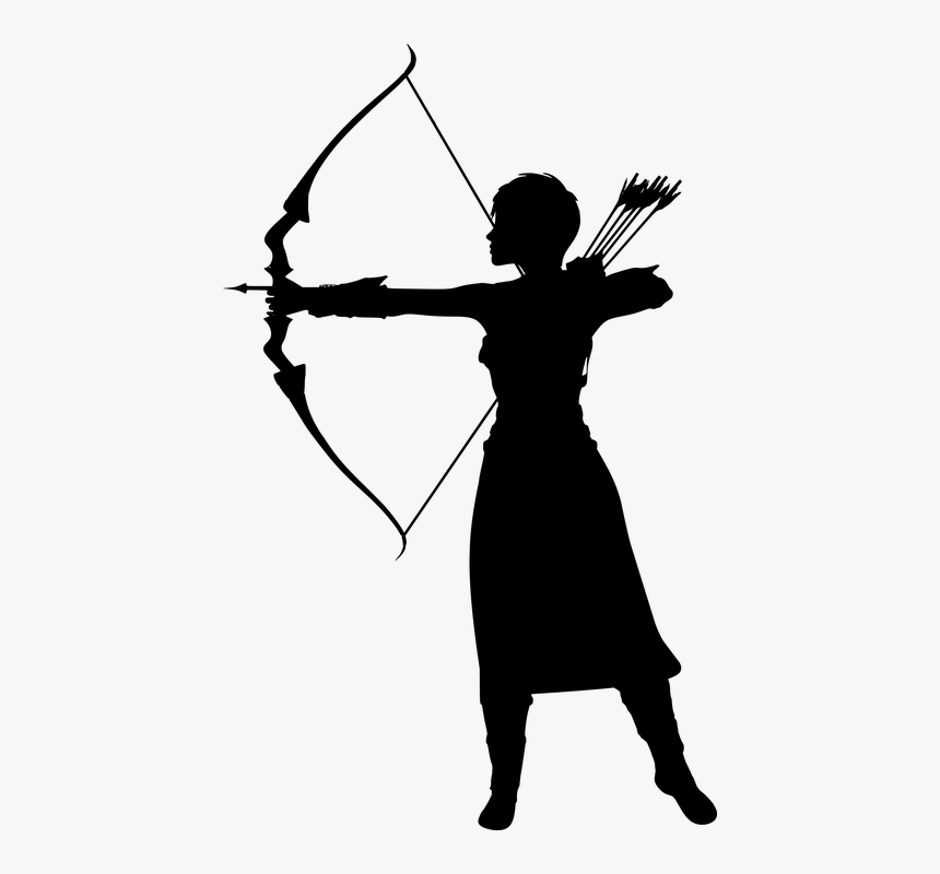 Woman, Artemis, Arrow, Bow, Fantasy, Silhouette, Hunter - Bow And Arrow Artemis, HD Png Download, Free Download