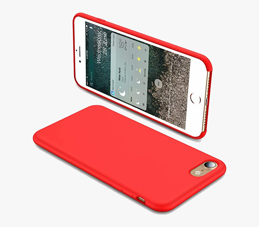 Iphone 7 Plus Cases Silicone Red, HD Png Download, Free Download