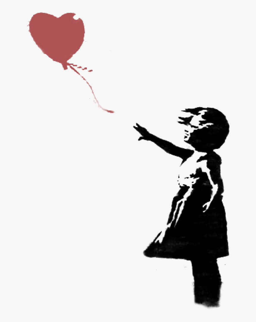Banksy Heart Baloon - April Green Quotes, HD Png Download, Free Download