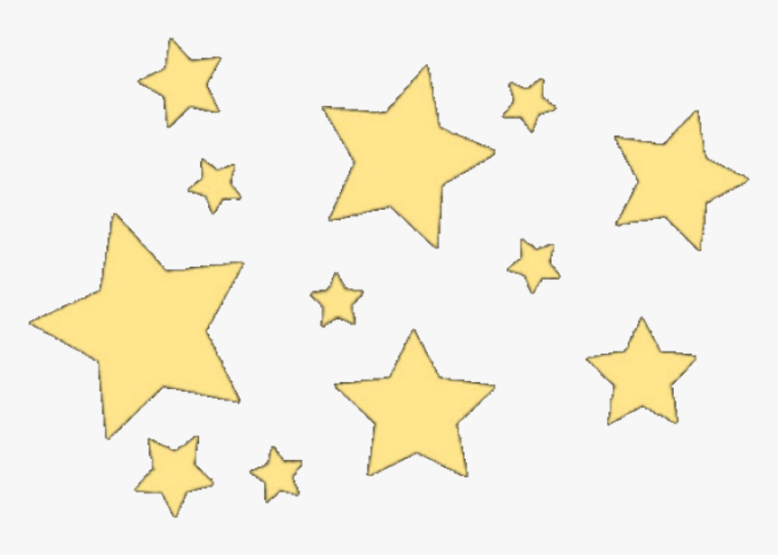 #kawaii #cute #yellow #pastel #stars #overlay #png - 3d Overlays For Edits, Transparent Png, Free Download