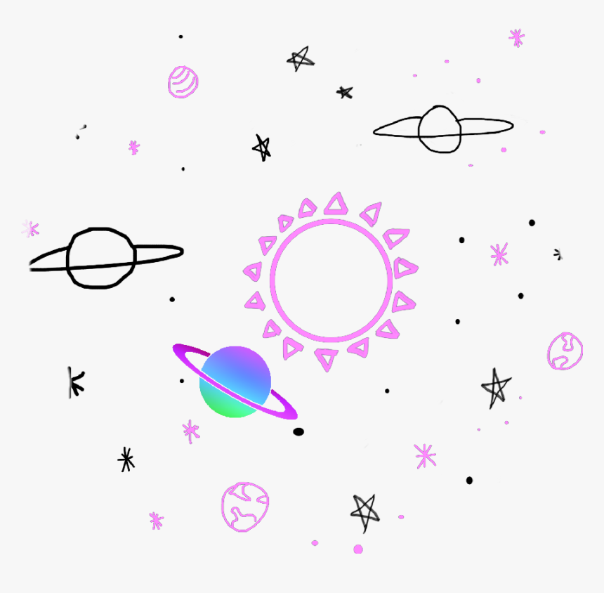 Sticker Space Tumblr Colors Cute Pink Purple Stars - Planeta Tumblr Png, Transparent Png, Free Download