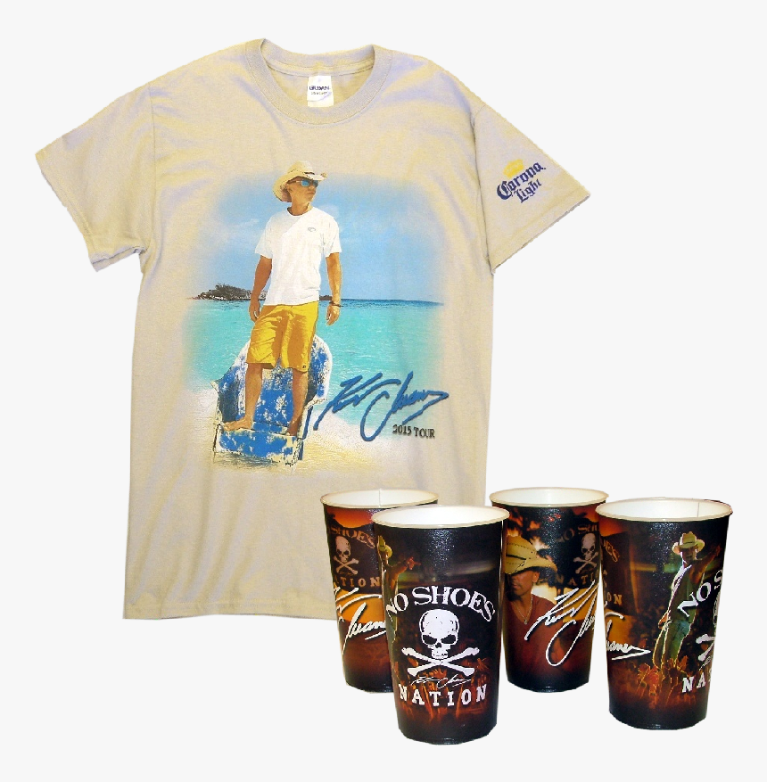 Kenny Chesney Corona Tee Plus Stadium Cup Set Bundle - Pint Glass, HD Png Download, Free Download