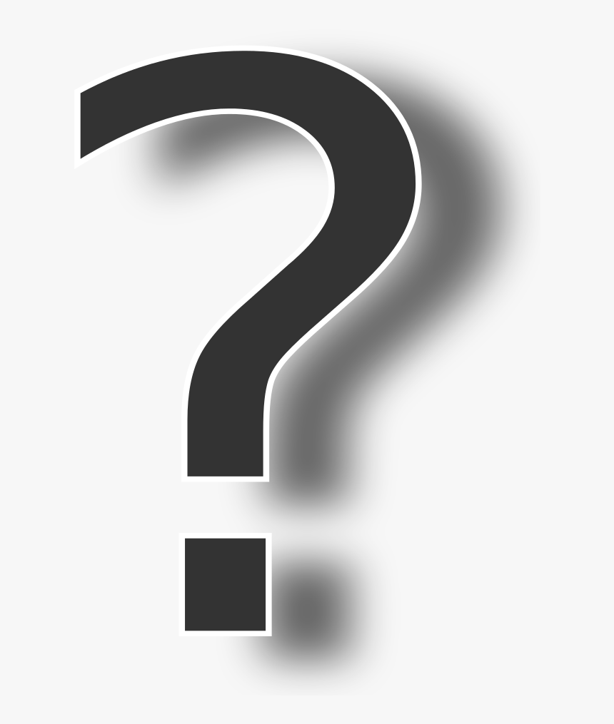Drop Shadow Png Download - Black Shadow With Question, Transparent Png, Free Download