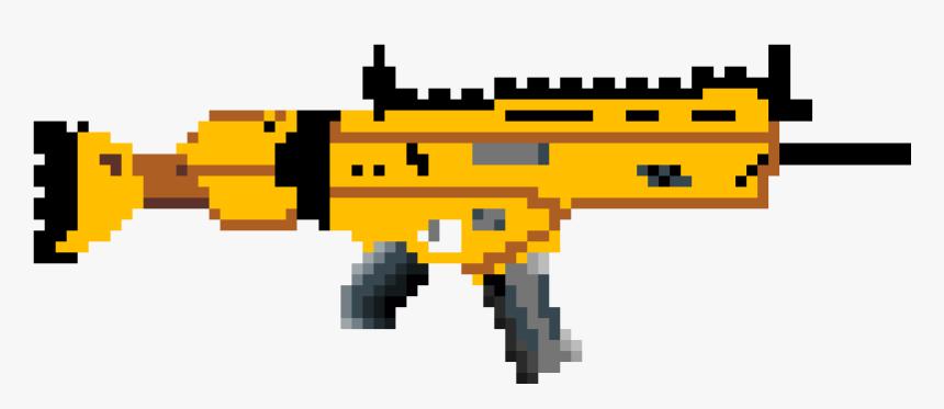 Transparent Scar Clipart - Pixel Art Sniper Fortnite, HD Png Download, Free Download